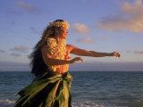 Hawaiian Hula at Sunrise, HI Photographic Print by Tomas del Amo
