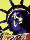 Abstract of Statue of Liberty, NYC Valokuvavedos tekijänä Whitney & Irma Sevin