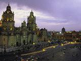Cathedral Metropolitana, Mexico City, Mexico Fotografie-Druck von Walter Bibikow