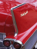 Taillight and Fin of 1958 Fleetwood Photographic Print by Gary Conner