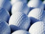 Close-up of Golf Balls Fotografie-Druck von Guy Crittenden