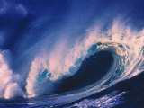 North Oahu, HI, Ocean Wave at High Contrast Photographic Print by Bill Romerhaus
