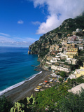 Village de Positano, Italie Reproduction photographique par Bill Bachmann