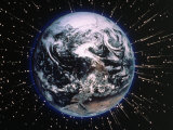 Earth Bombarded by Stars Photographic Print by Chris Rogers
