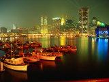 Inner Harbor at Dusk, Baltimore, MD Premium fototryk af Mark Gibson