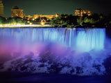 Niagara Falls with Blue Light, NY Impressão fotográfica por Rudi Von Briel