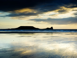 The Worms Head, Gower Peninsula, South Wales Fotografisk tryk af Martin Page