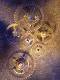 Gold Watch Gears Fotografisk trykk av Ellen Kamp