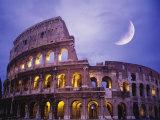The Colosseum at Night, Rome, Italy 写真プリント : テリー・ホワイ
