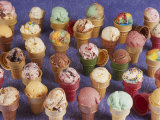 A Variety of Ice Cream Cones Photographic Print by Karen M. Romanko