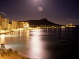 Waikiki Beach and Diamond Head, HI Fotoprint av Tomas del Amo