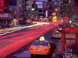 Canal Street with Cab, Chinatown, NYC Impressão fotográfica por Rudi Von Briel