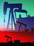 Oil Pumps, Colorado Fotografie-Druck von Chris Rogers