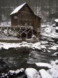 Old Mill, Babcock State Park, West Virginia Fotografisk tryk af Charles Benes