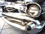 Detail of Classic Car, 57 Chevy Photographic Print by Bill Bachmann