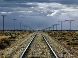 Train Near Flinders Ranges, Australia Fotografisk trykk av Peter Walton