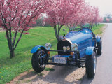 Bugatti Racecar and Cherry Blossoms Photographic Print by Claire Rydell