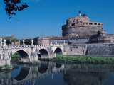 Ponte Sant'Angelo, Rome Photographic Print by Claire Rydell
