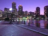 Nighttime Boston, Massachusetts Impressão fotográfica por John Coletti
