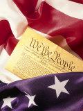 US Flag, Constitution Reproduction photographique par Terry Why