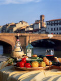 Tuscany Food and Wine, Florence, Italy Photographic Print by Frank Chmura