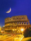 Le Colisée la nuit, Rome, Italie Reproduction photographique par Terry Why