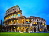 The Colosseum in Rome at Night Reproduction photographique par Terry Why