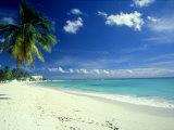 Beach Scene, Barbados Fotografie-Druck von Mike England