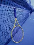 Tennis Racquet Against Net Fotografie-Druck von Henryk T. Kaiser