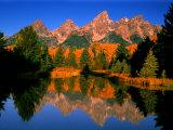 Teton Range in Autumn, Grand Teton National Park, WY Photographic Print by Russell Burden