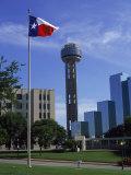 Reunion Tower, Dallas, Texas Impressão fotográfica por David Ball