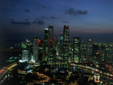 Skyline from Westin Stamford Hotel, Singapore Impressão fotográfica por David Ball