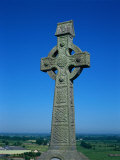 Celtic Cross with Knotted Desings, 7th Century, Ireland Photographic Print by Claire Rydell