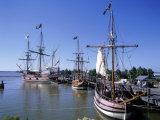 Ship Replicas, Jamestown Settlement, VA Impressão fotográfica por David Ball