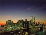 Brooklyn Bridge & Lower NYC Impressão fotográfica por David Ball