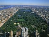 Vue aérienne de Central Park, NYC Reproduction photographique par David Ball