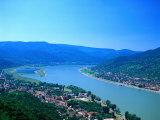 Danube Bend, Visegrad, Hungary Impressão fotográfica por David Ball