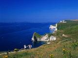 Durdle Door Coastline, Weymouth Bay, Dorset, UK Impressão fotográfica por David Ball