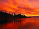 Sunset, Sierra Mountains, Lake Tahoe, CA Photographic Print by Kyle Krause