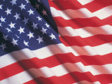 American Flag, Stars and Stripes Premium fototryk af Terry Why