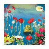 Frog And Ladybugs 高品質プリント : ナンシー・ティルマン