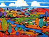 Southwest Fauve Landscape Kunstdrucke von Patty Baker