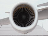 A Close View of the Intake Section of a Jet Engine Fotografisk tryk af Stephen St. John