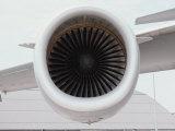 A Close View of the Intake Section of a Jet Engine Lámina fotográfica por St. John, Stephen