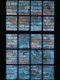 A Window Looks out Upon a Colorful Brick Wall Photographic Print by Sam Abell