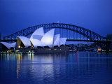 Harbor and Sydney Opera House Opspændt lærredstryk af Sam Abell