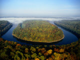 The Potomac River Makes a Hairpin Turn Through the Forest Photographic Print by Sam Abell