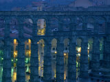 Twilight View of the Roman Aqueduct in Segovia Photographic Print by James L. Stanfield