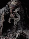 Skeleton Encased in Volcanic Ash Fotografisk tryk af O. Louis Mazzatenta