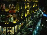 A Buenos Aires Shopping District at Night Fotografie-Druck von Pablo Corral Vega